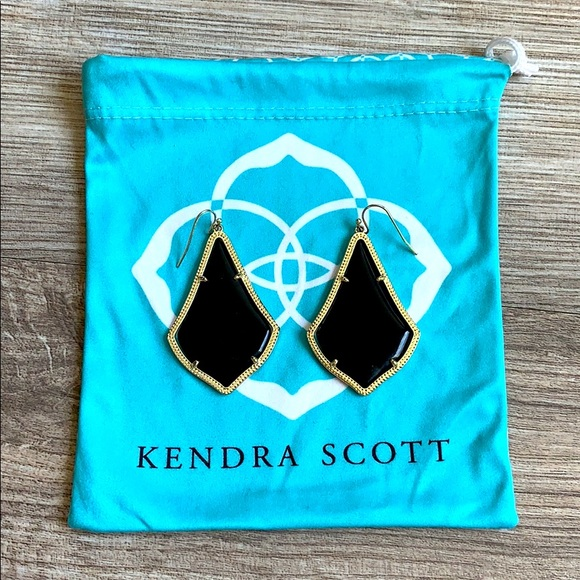 Kendra Scott Alex Gold Drop Black Earrings